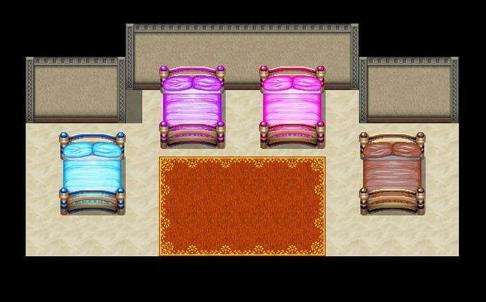 Free RPG Maker beds - Double Size - MV - Kokoro Reflections