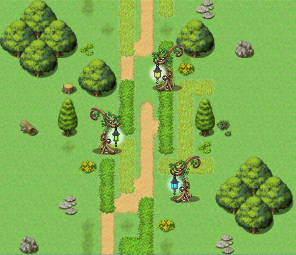 fairy tale lantern tree