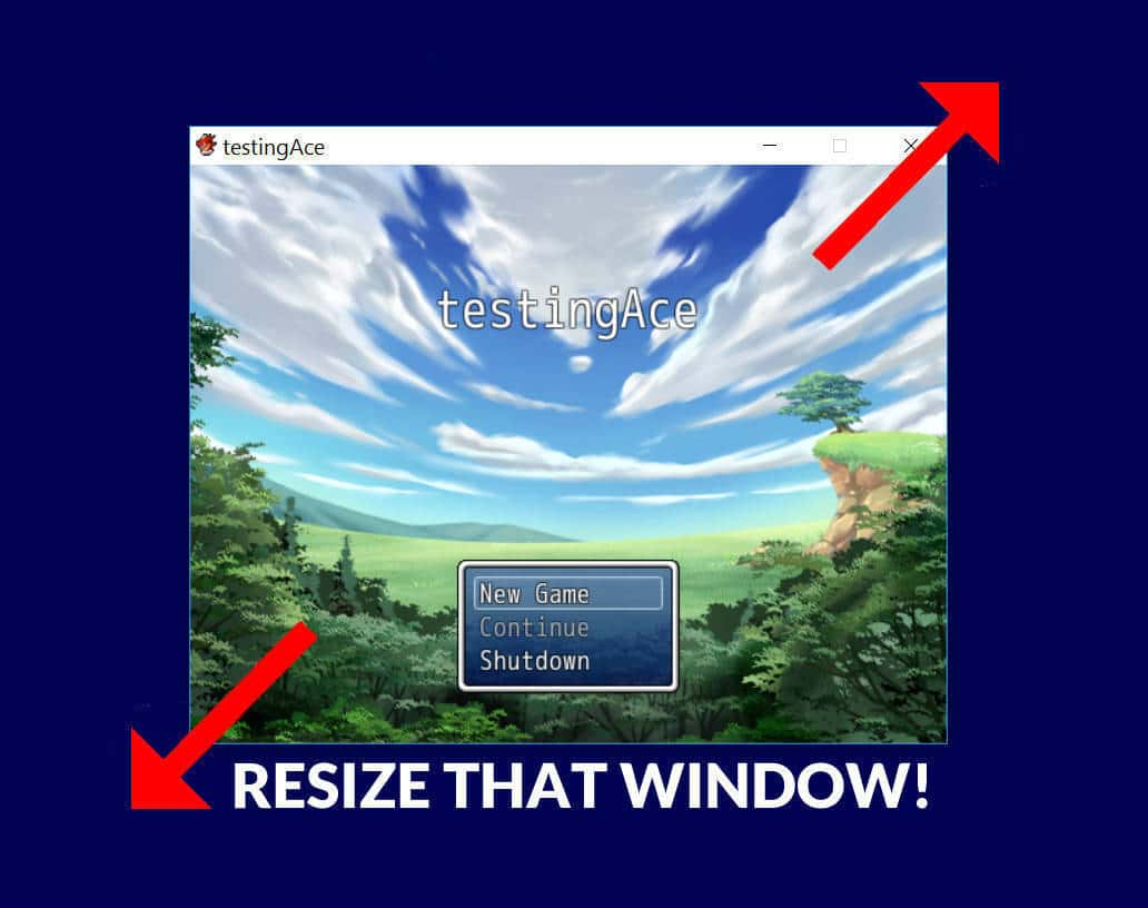 Resize RPG Maker Windows   Without Breaking the EULA!